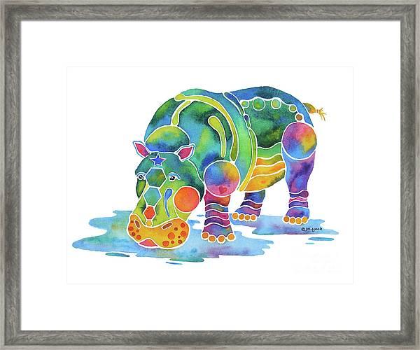 Hippo Heaven Framed Print
