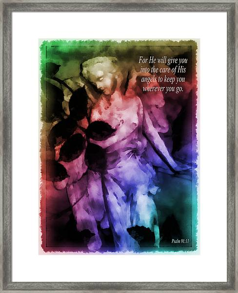 His Angels 2 Framed Print