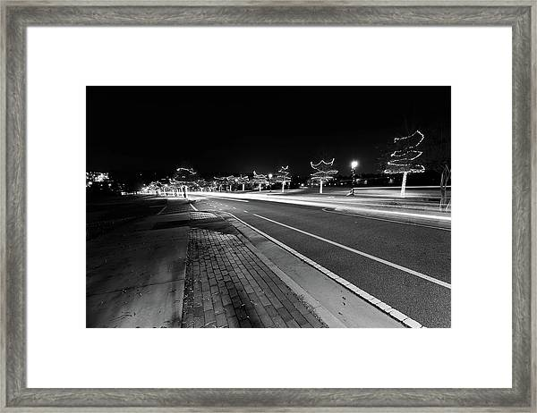 Historic Buford At Christmas Framed Print