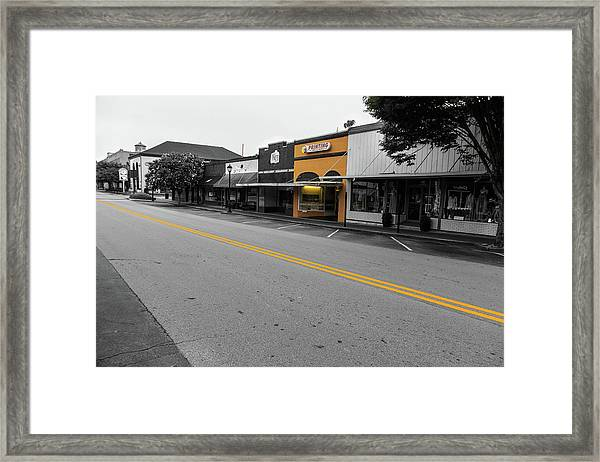 Historic Buford In Selective Color Framed Print