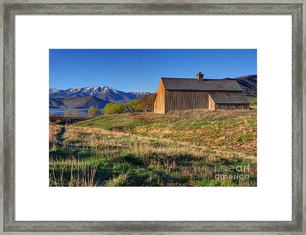 Historic Francis Tate Barn - Wasatch Mountains Framed Print