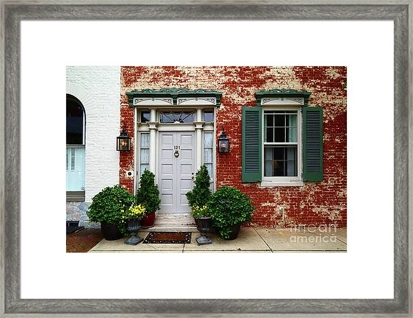 Historic House In Frederick Maryland Framed Print