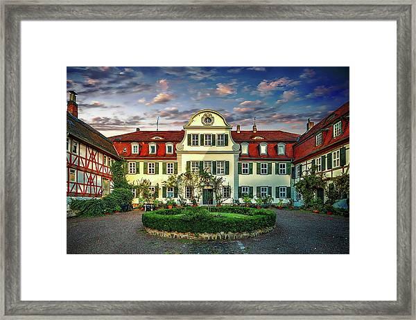 Historic Jestadt Castle Framed Print