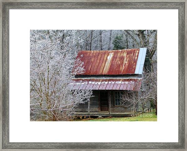 Historic North Carolina Cabin Framed Print