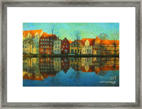 Historic Old Town Lubeck Framed Print