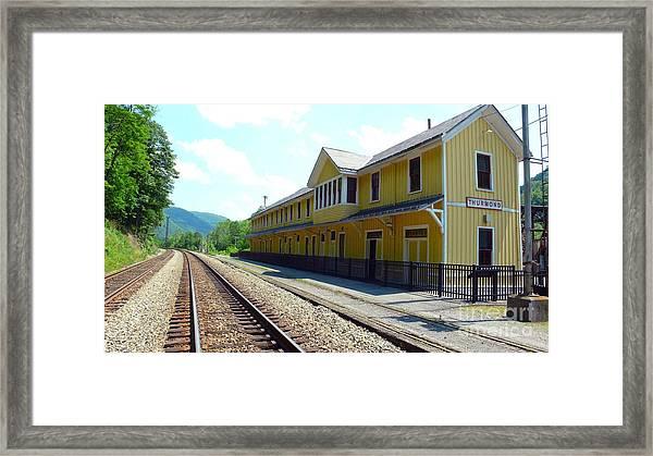 Historic Passenger Train Depot Thurmond West Virginia Framed Print