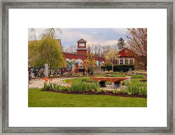 Historic Rail Station, Manhan Rail Trail Easthampton Framed Print