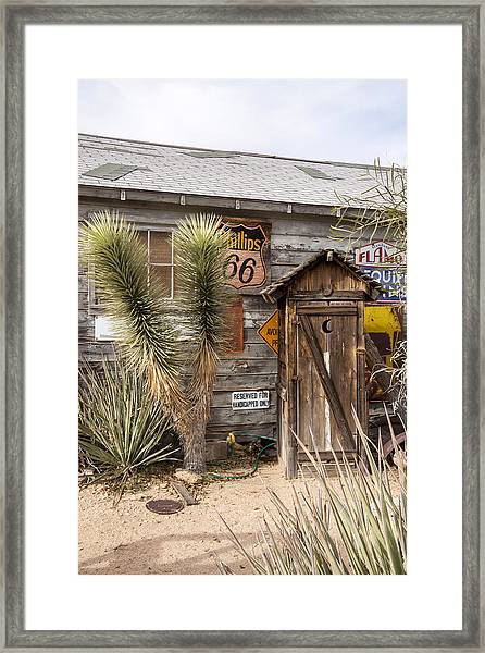 Historic Route 66 - Outhouse 1 Framed Print