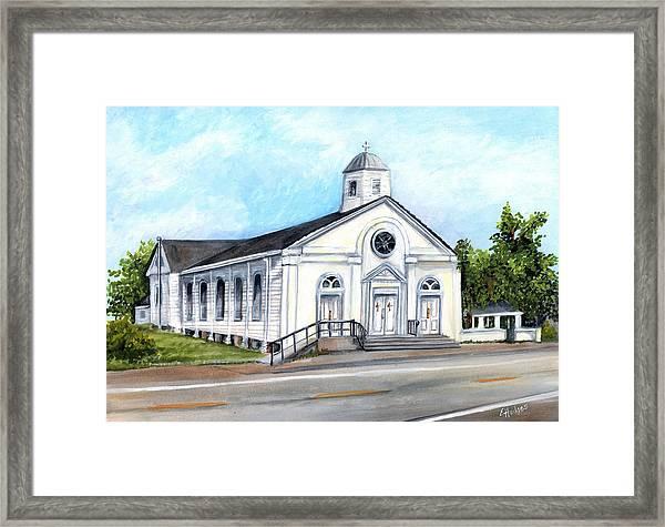 Historic Rural Church Framed Print