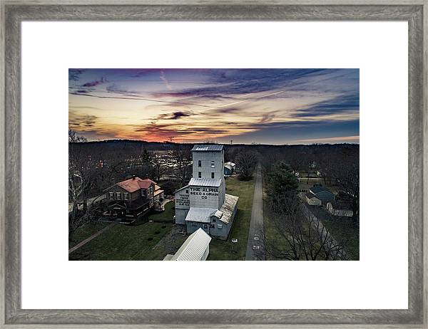 Historic Sunset Framed Print
