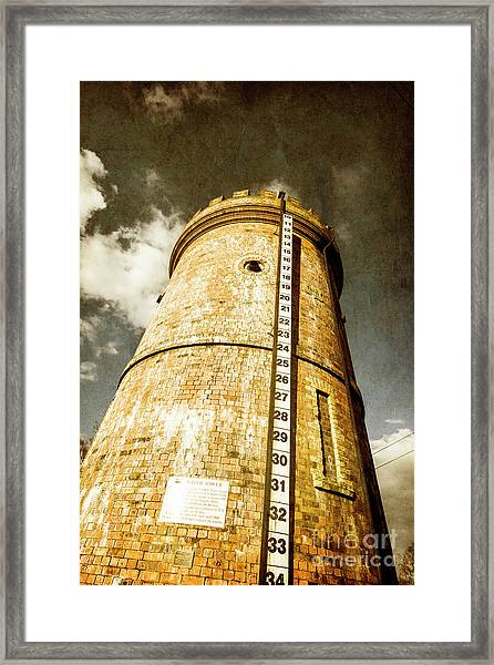 Historic Water Storage Structure Framed Print