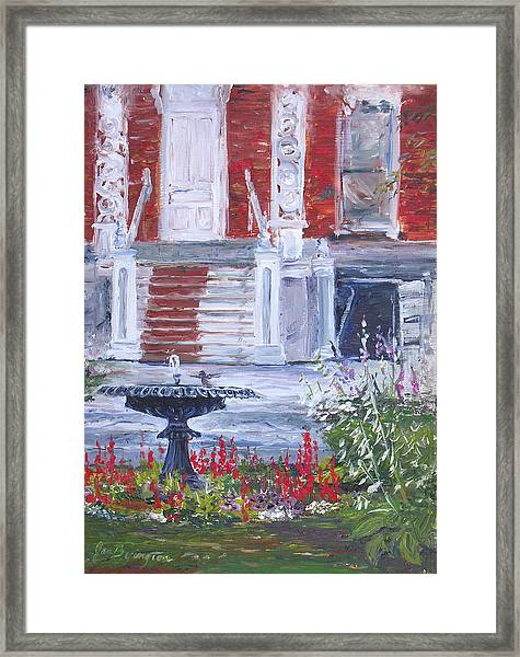 Historical Society Garden Framed Print