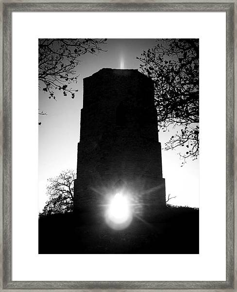 Historical Water Tower At Sunset Framed Print