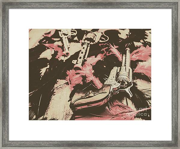 History In Western Rivalry Framed Print