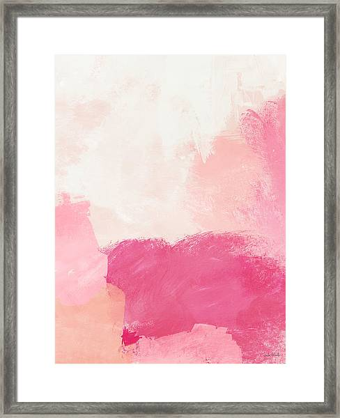 History Of Pink- Abstract Art By Linda Woods Framed Print