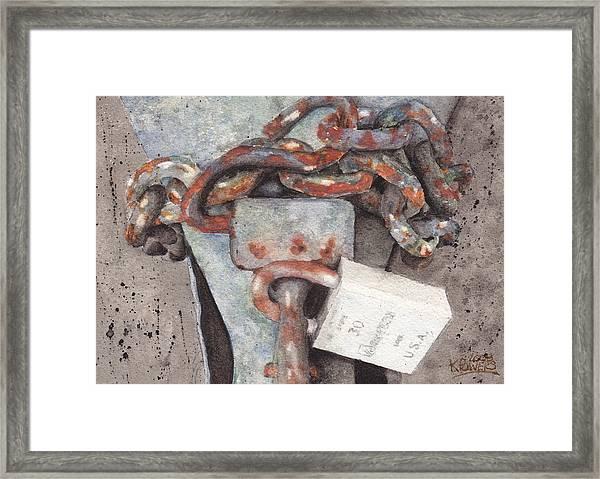 Hitch Lock Framed Print