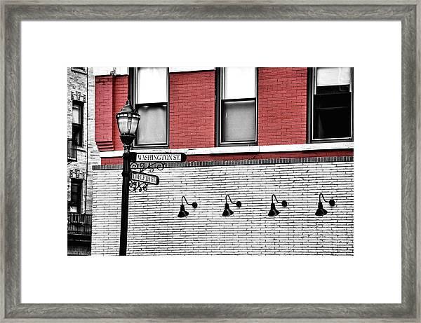 Hoboken Lights Framed Print