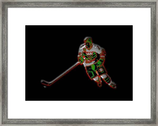 Hockey Player Framed Print