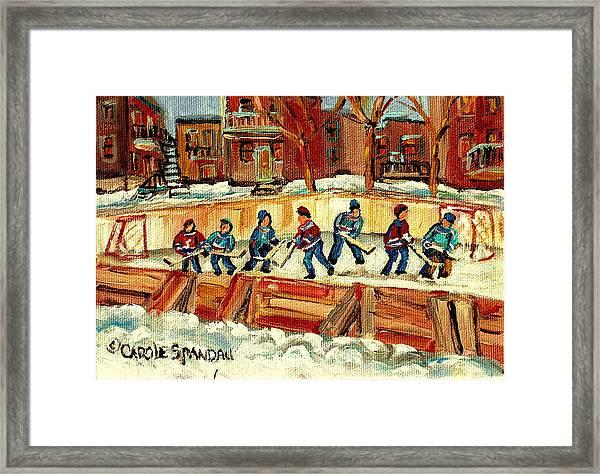 Hockey Rinks In Montreal Framed Print