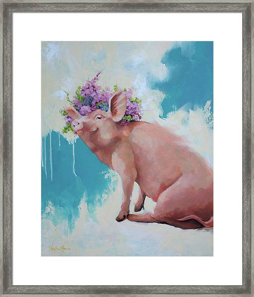 Hog Heaven Framed Print