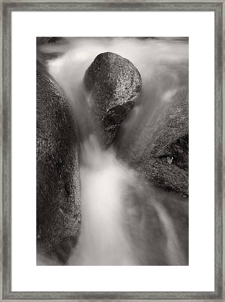 Hogback Creek And Granite Inyo Natl Forest Bw Framed Print