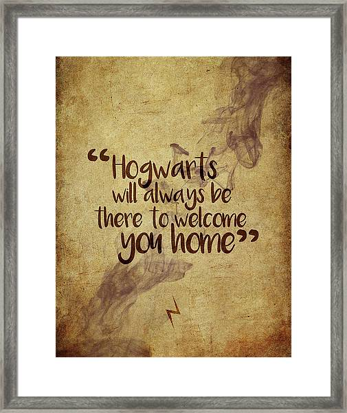 Hogwarts Is Home Framed Print