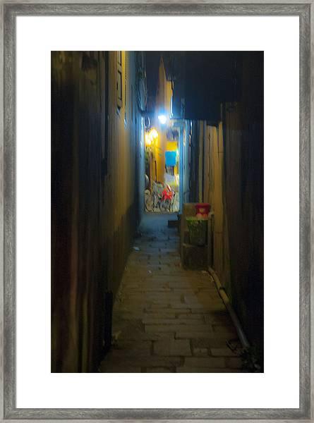 Hoi An Alleyway Framed Print