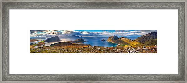 Holandsmelen Panorama Framed Print