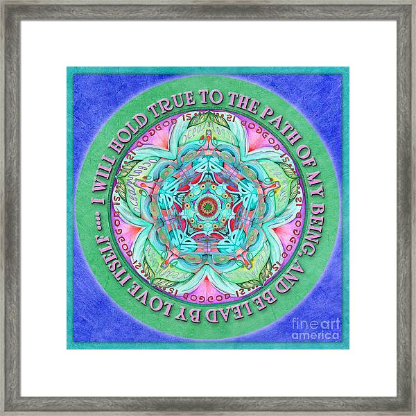 Hold True Mandala Prayer Framed Print