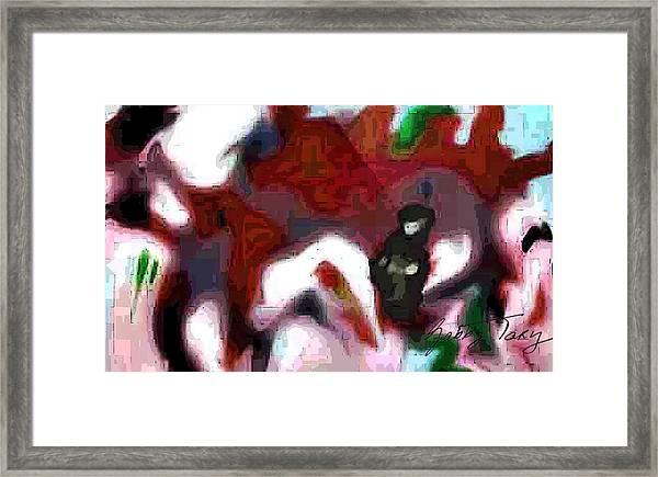 Holding Area Framed Print