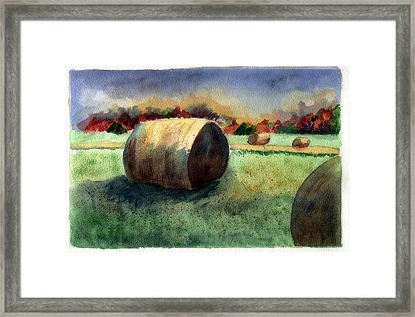Holding Off The Storm Framed Print by Jane Croteau