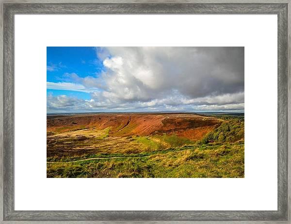Hole Of Horcum, North York Mores, Yorkshire, United Kingdom Framed Print