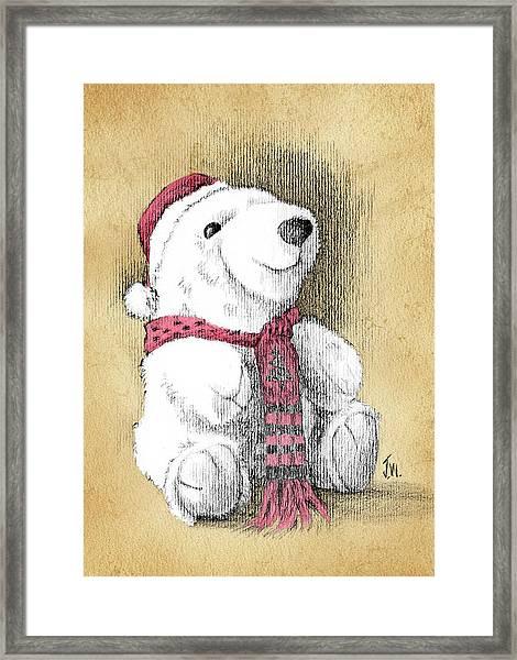Holiday Bear Card Framed Print