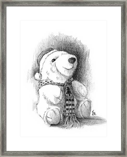 Holiday Bear Framed Print