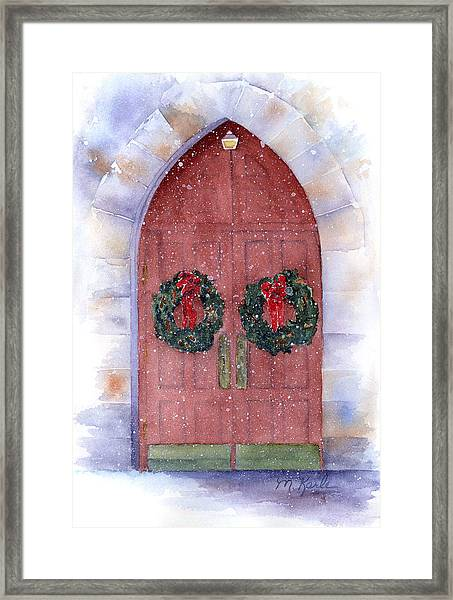 Holiday Chapel Framed Print