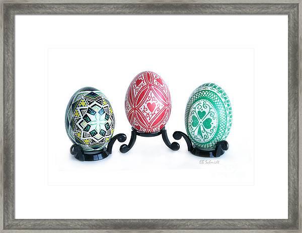 Holiday Eggs Framed Print