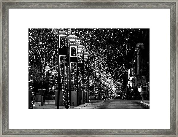 Holiday Lights - 16th Street Mall Framed Print