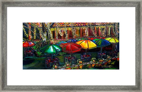 Holiday Riverwalk Framed Print