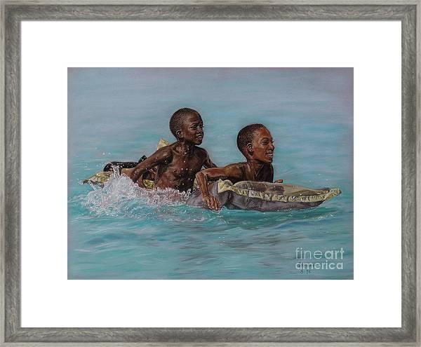 Holiday Splash Framed Print