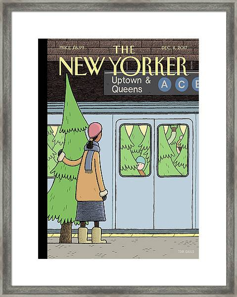 Holiday Track Framed Print