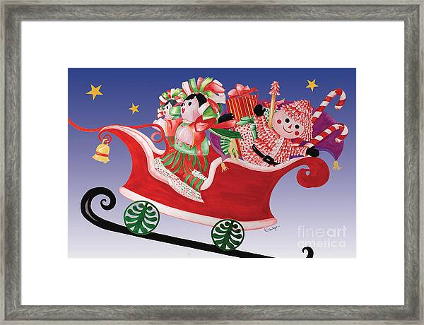 Holiday Twin Delivery Framed Print