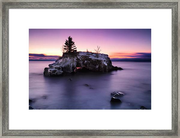 Hollow Glow Framed Print