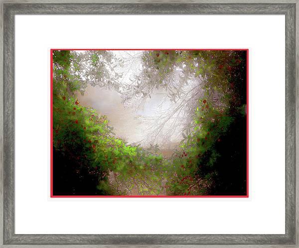 Holly Heart Framed Print