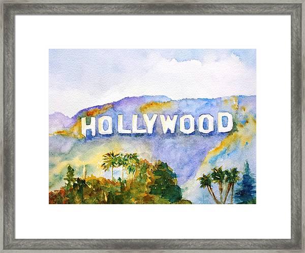 Hollywood Sign California Framed Print