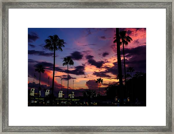 Hollywood Studios Twilight Framed Print