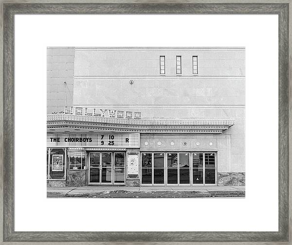 Hollywood Theater Marquee Framed Print