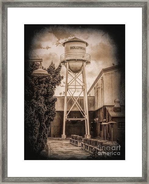 Hollywood Water Tower 2 Framed Print