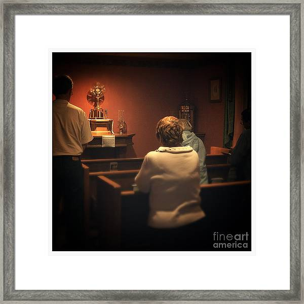 Holy Adoration Altar Framed Print