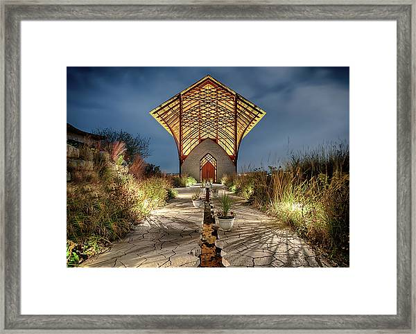 Holy Family Shrine Framed Print