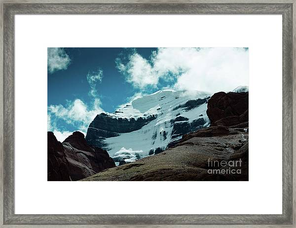 Holy Kailas West Himalayas Tibet Yantra.lv Framed Print